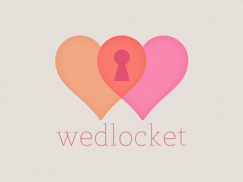 Wedlocket design logo