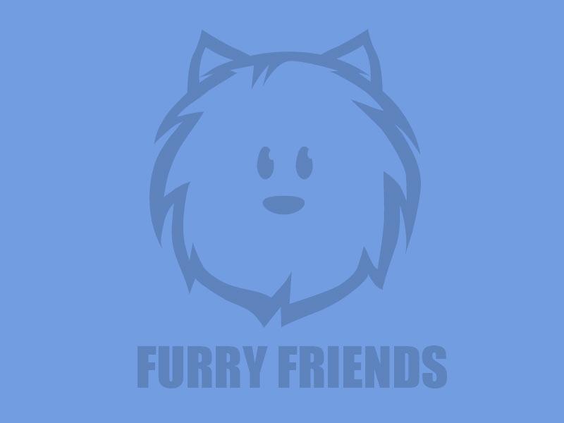 Furry Friends dogs design logo