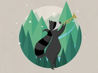 The Trumpet Playing Raccoon