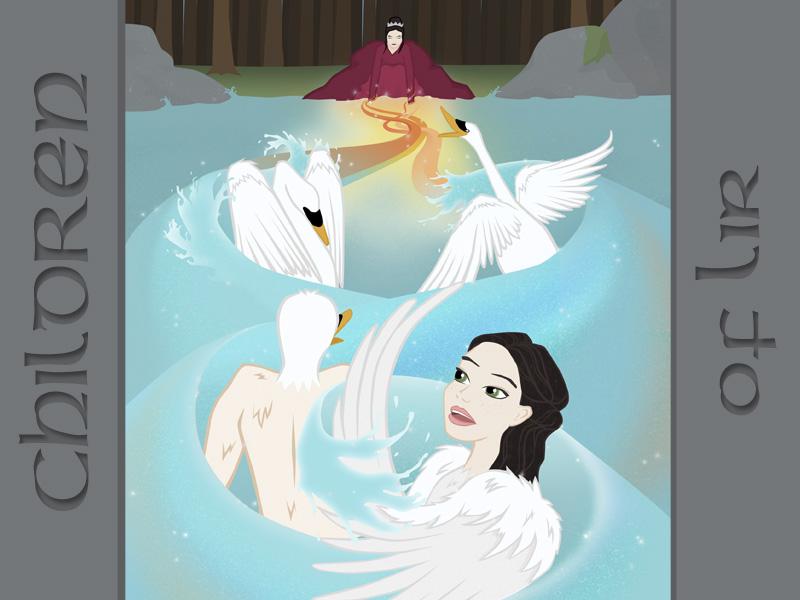 Children of Lir swans irish irishtales illustration childrenoflir