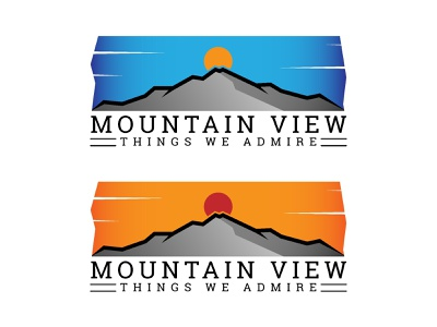 Mountain View : Things We Admire gradient color graphics minimal vector illustration natural nature landscape mountain logo illustration design vector