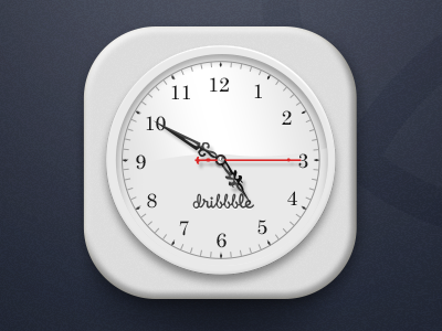 Dribbble Clock icon ios app ui jerrychen time watch china