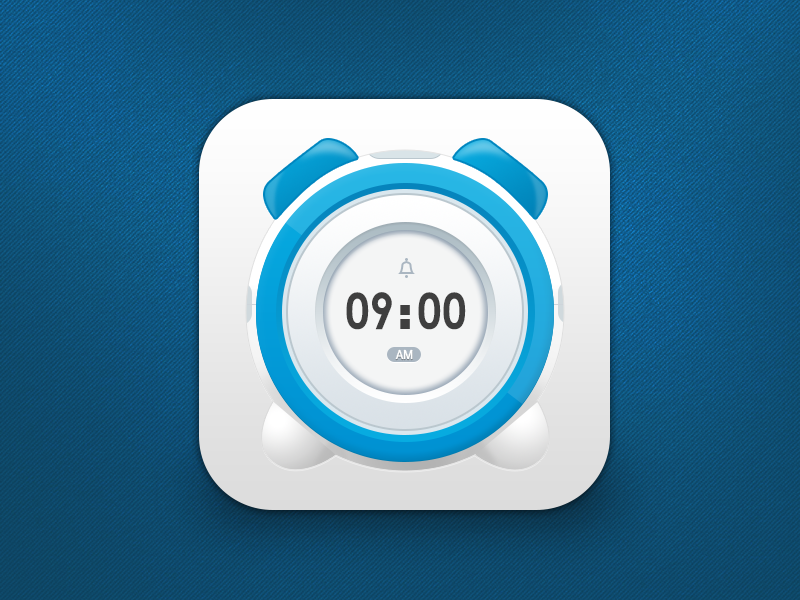 alarm clock app icon alarm clock app ios icon watch ui time jerrychen china