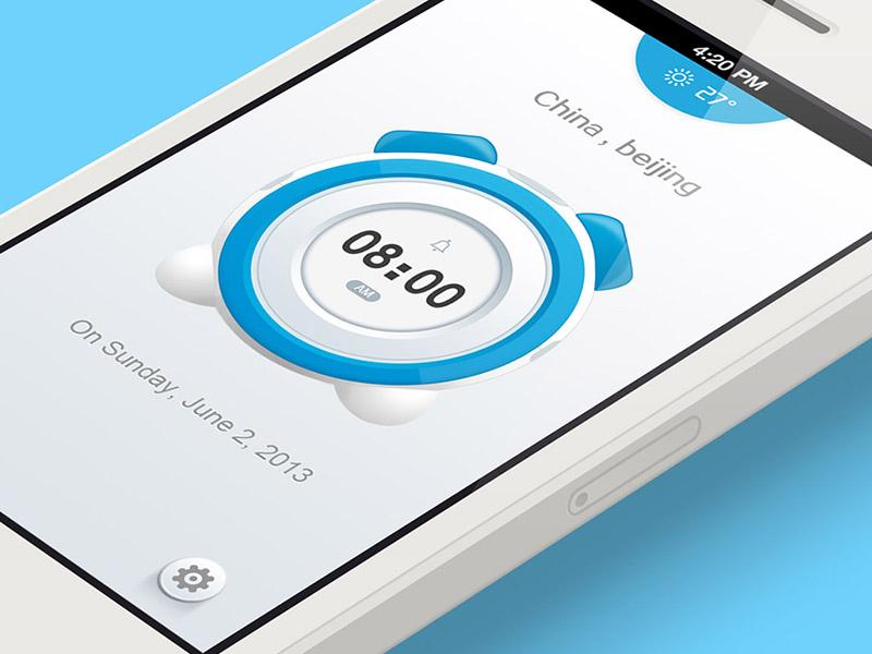 Alarm Clock App alarm clock app ios icon watch ui time jerrychen application creative