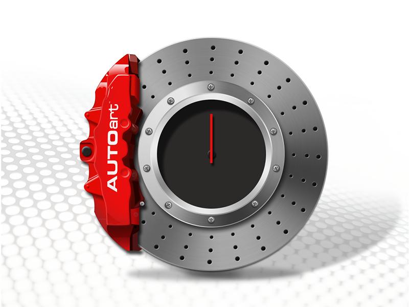 Brake Disc Clock icon car brake disc clock app ios icon ui time jerrychen application creative