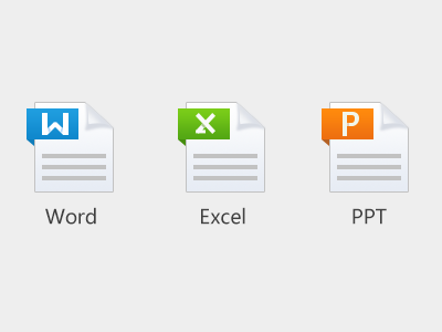 File types icons document file types icon word excel powerpoint