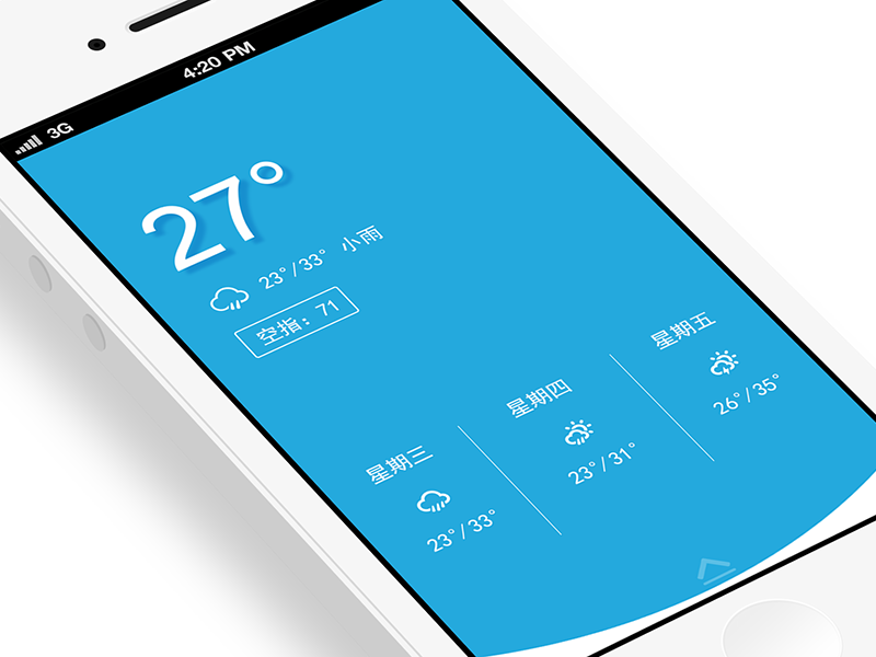 Weather App weather thunder shower app ios icon ui jerrychen application creative