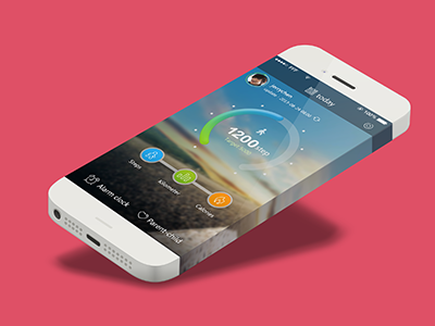 Sport app concept  ios7 sport app ios iphone6 interface ui running calories