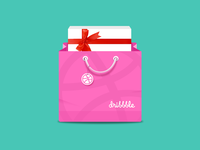 Dribbble Gift Bag icon