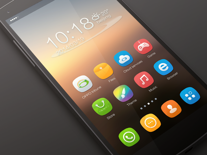 Oppo Theme icon by jerrychen on Dribbble