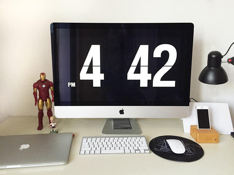 My Workspace desk imac5k mac pro design home