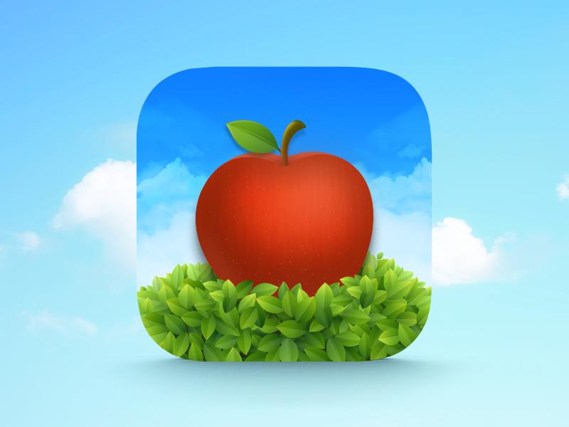 apple tree Icon ui ios set tree apple icon
