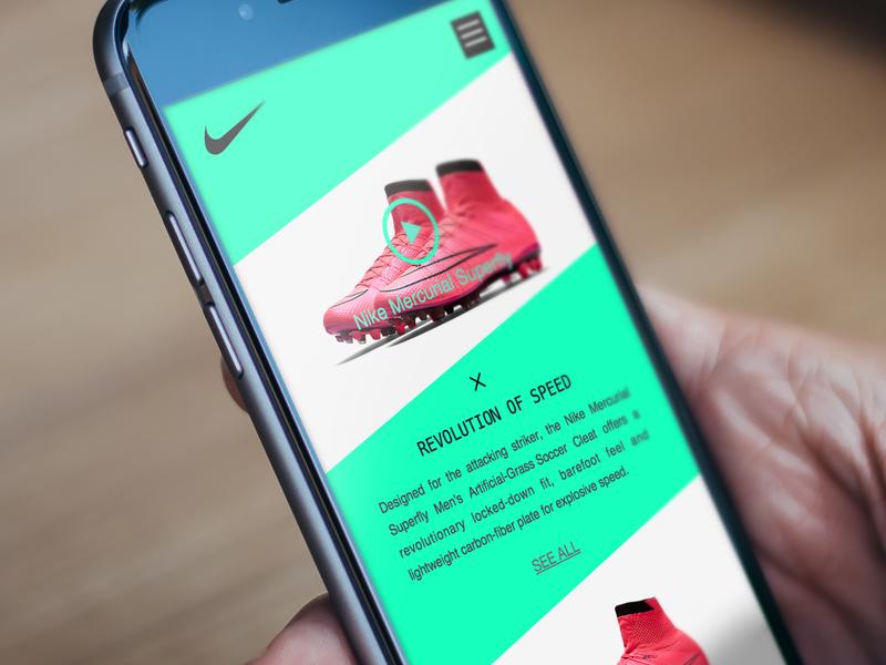 Nike Football Shoes App sketch shoes football nike app ui
