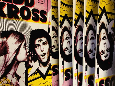 REDD KROSS psychedelic americana screenprint design poster gigposter