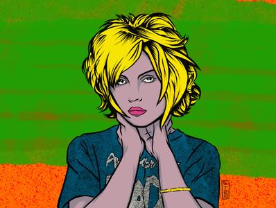 Deborah Ann Harry - Blondie pop art punk rock music portrait illustration