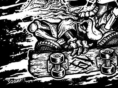 Stay Lit: T-Shirt Design typography skateboard pen and ink skull design black and white illustration
