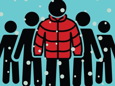 TOO MANY HUMANS / NOT ENOUGH COATS poster pro-bono poster art vector design illustration