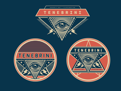 Personal ID system logo vector psychedelic typography branding americana pattern design illustration