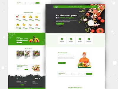 Food product website responsive landing page design ui ux food apps food app food branding psd to html illustration website design email design converter