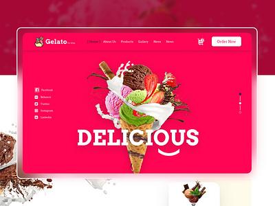 ice cream landing page website landing