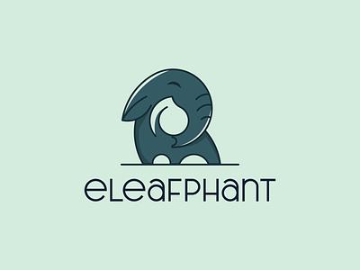 eleafphant illustration branding vector logo design