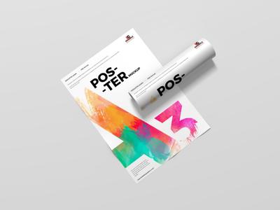 Free Modern A3 Poster Mockup