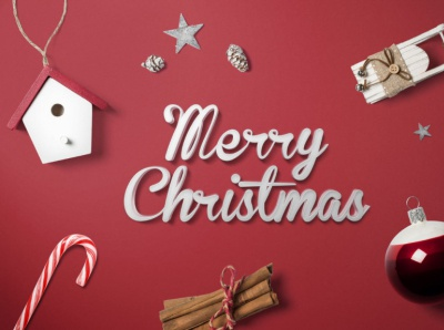 Free Merry Christmas Mockup PSD
