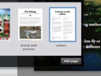 Add page popover