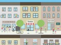 Neighborhood life poster