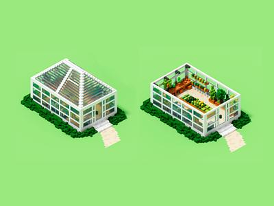 Greenhouse 🌿 magicavoxel voxel