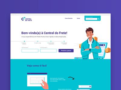 Central do Frete interface design web design website