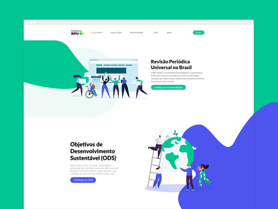 Plataforma RPU visual identity website ui user interface design