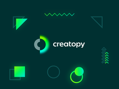 Creatopy - My very first Playoff creativity creative glow minimal icon logo branding design