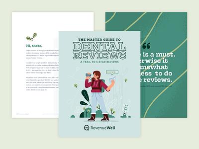 Master Guide to Dental Reviews Ebook reviews character health cover design illustration online reviews ebook dental
