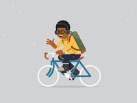 Daily Commuter 001: Snowy Cyclist