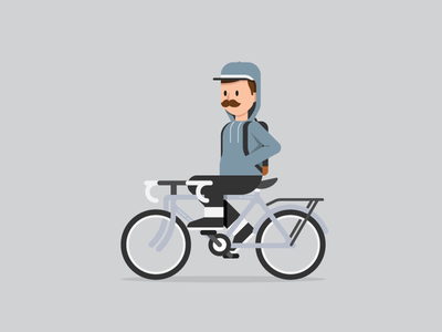 Daily Commuter 002: No Hands mustache snapback commute bicycle bike avatar