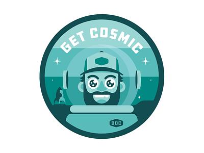 ✨  Get Cosmic ✨ astronaut draplin ddc space cosmic badge patch rocket