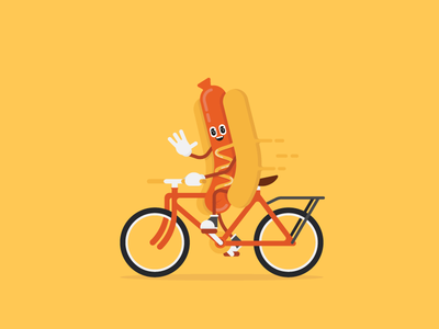 Daily Commuter 007: What a Wiener! 🌭🌭🌭 character bicycle hotdog brat madison bratfest