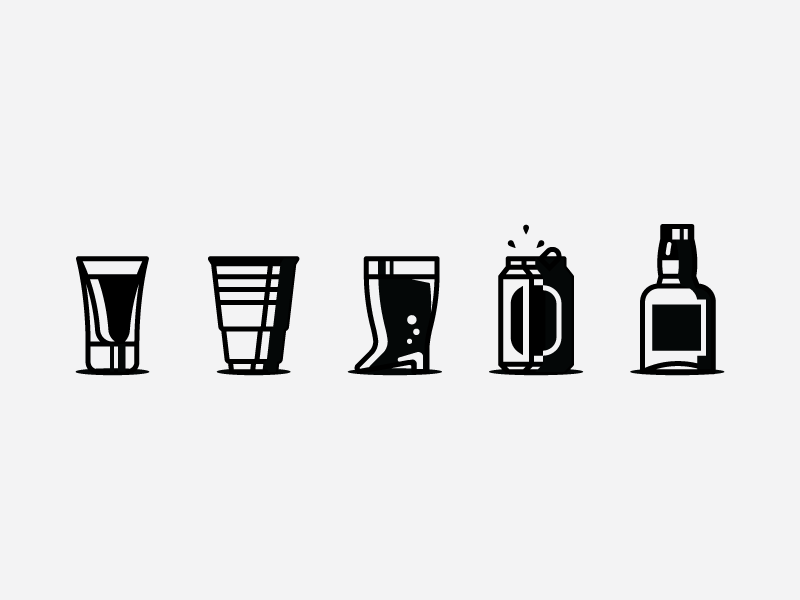 Pick Your Poison ☠️🍺 jack whiskey white black icons shot boot can cup liquor beer friday beer