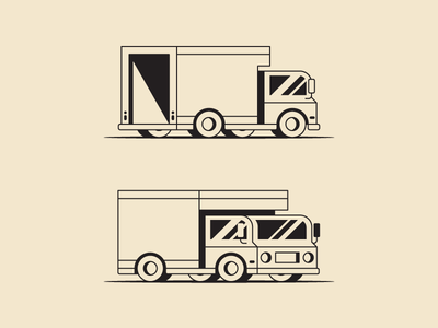 Mother Trucker vehicle icon car delivery pickup truck