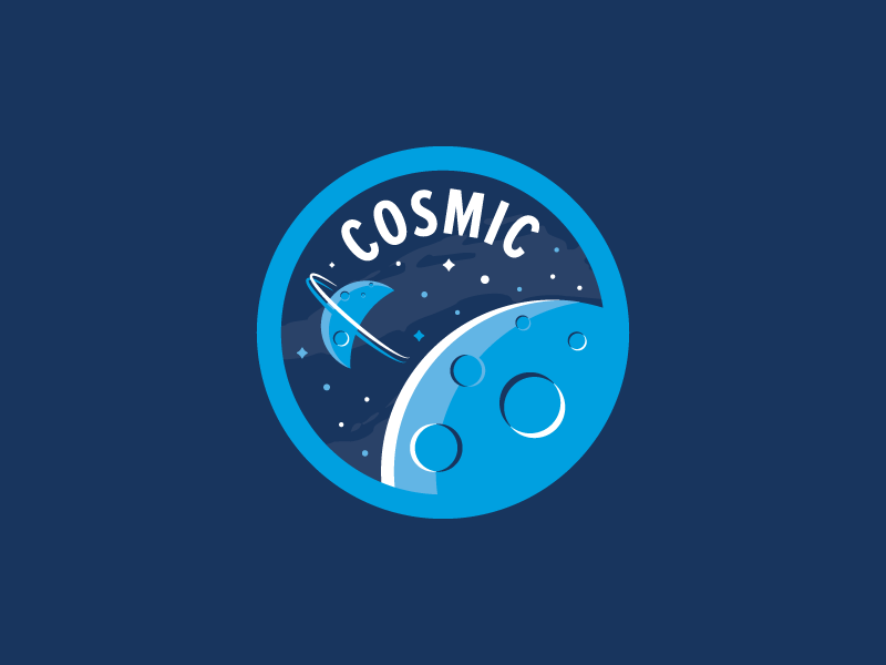 Cosmic Badge feelin cosmic! planets moon galaxy badge space cosmic