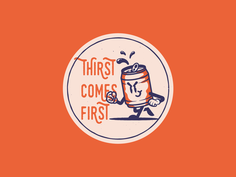 Worst come to worst... stickermule character booze thirsty beer coaster