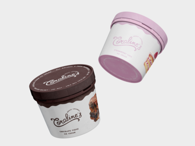 Ice cream product design 🍨 | Viviana brand design typography brandidentity creamery icecream logodesign logotype productdesign packaging