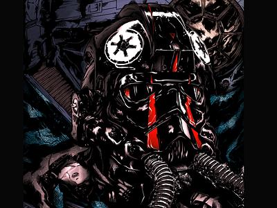 TIE Fighter | Pilot tie fighter pilot illustration star wars art starwars design art design characterdesign character art