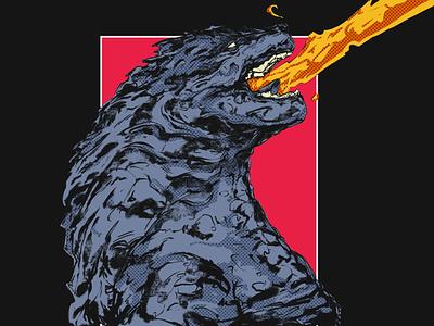 GODZILLA | SIXFANART graphic design monster godzilla anime cartoon illustration art illustration character design art design characterdesign art