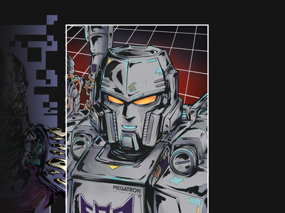 MEGATRON | SIXFANART sixfanarts megatron transformer anime cartoon illustration art illustration character design art design characterdesign art