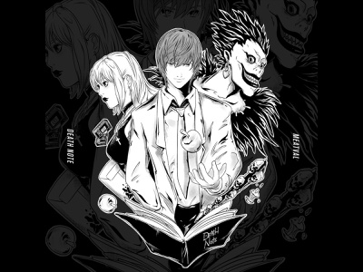 DEATH NOTE cartoon mangaart misa ryuk meatval character illustration manga kira death note anime illustration art characterdesign art