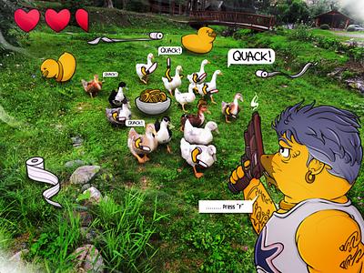 Duck Story cute art ducks meatval cartoon illustration art illustration design art design character characterdesign art