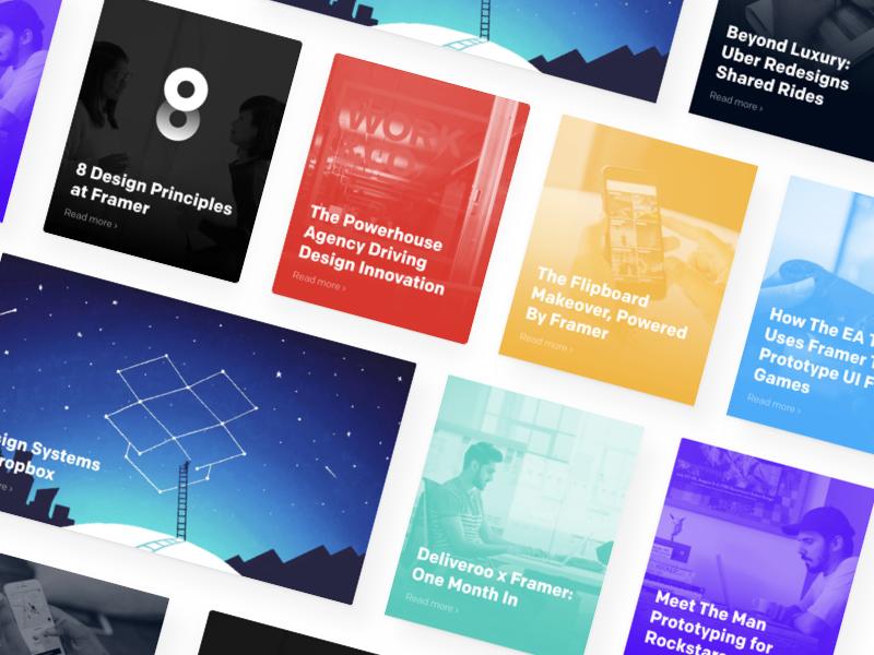 Framer Blog Cards
