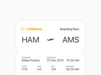Boarding Pass – Daily UI #024